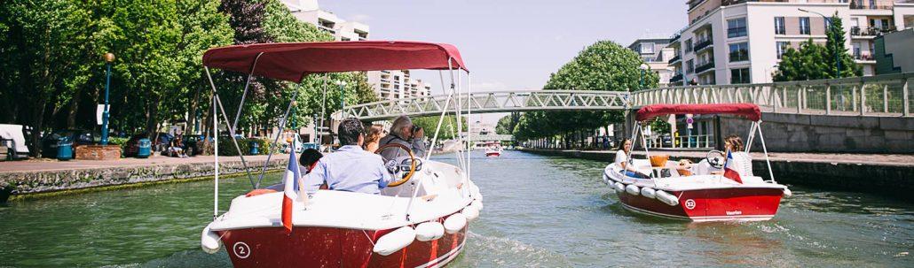 Bateaux en balade sur le Canal de l'Ourcq
