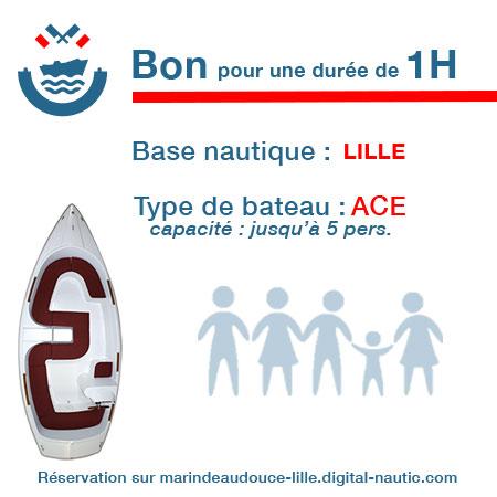 Bon cadeau pour un bateau type Ace pour une durée de 1H à Lille
