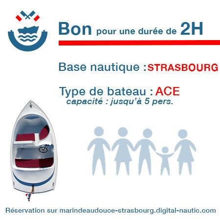Bon cadeau pour un bateau type Ace pour une durée de 2H à Strasbourg