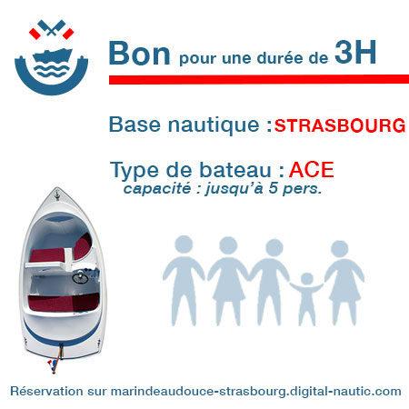 Bon cadeau pour un bateau type Ace pour une durée de 3H à Strasbourg